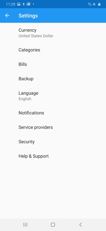Change bill reminder notification time.